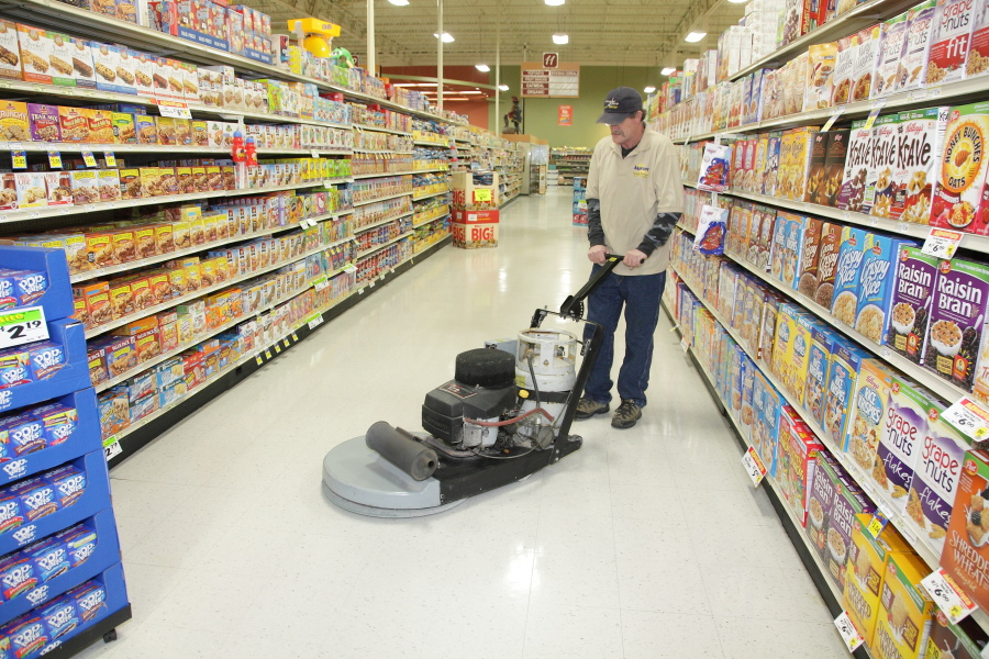 Large floor cleaning
